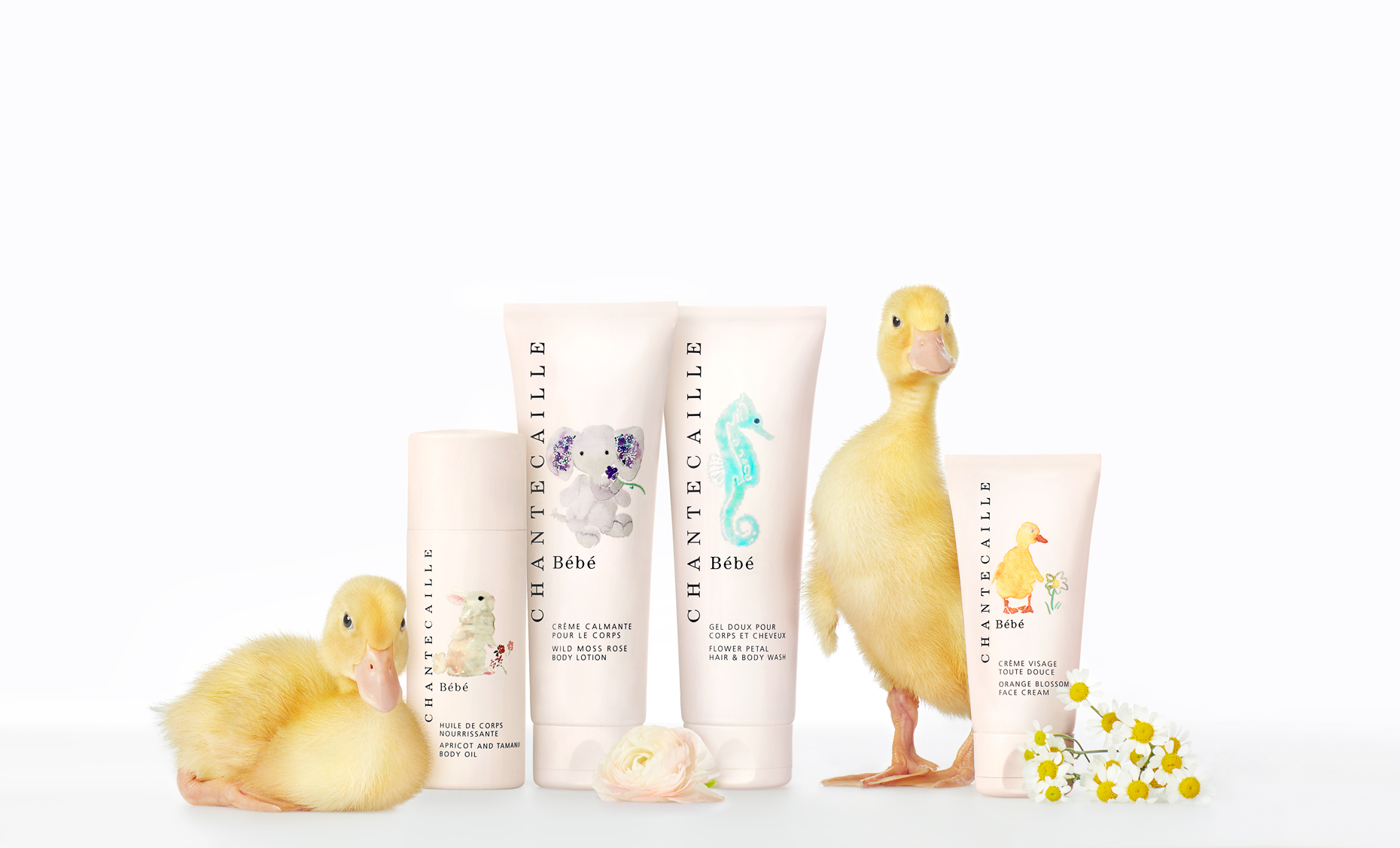 ducklings with beauty products