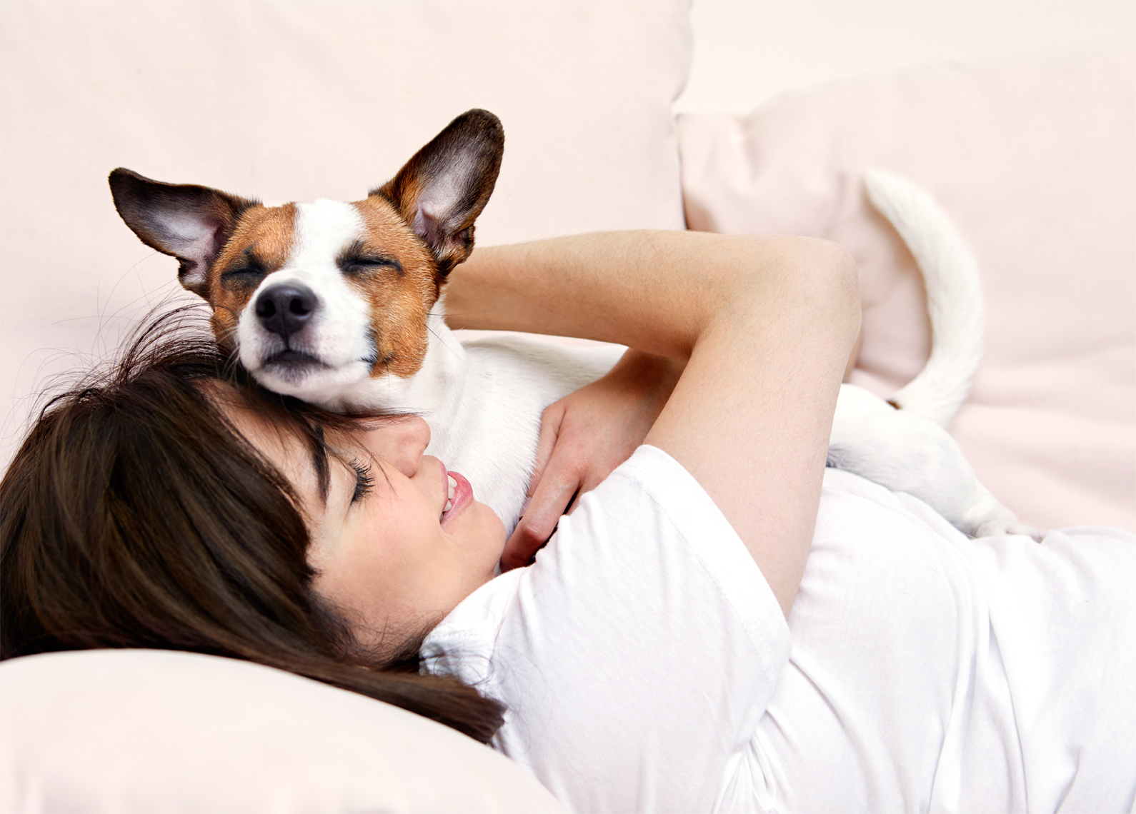 Woman and Jack Russell Terrier