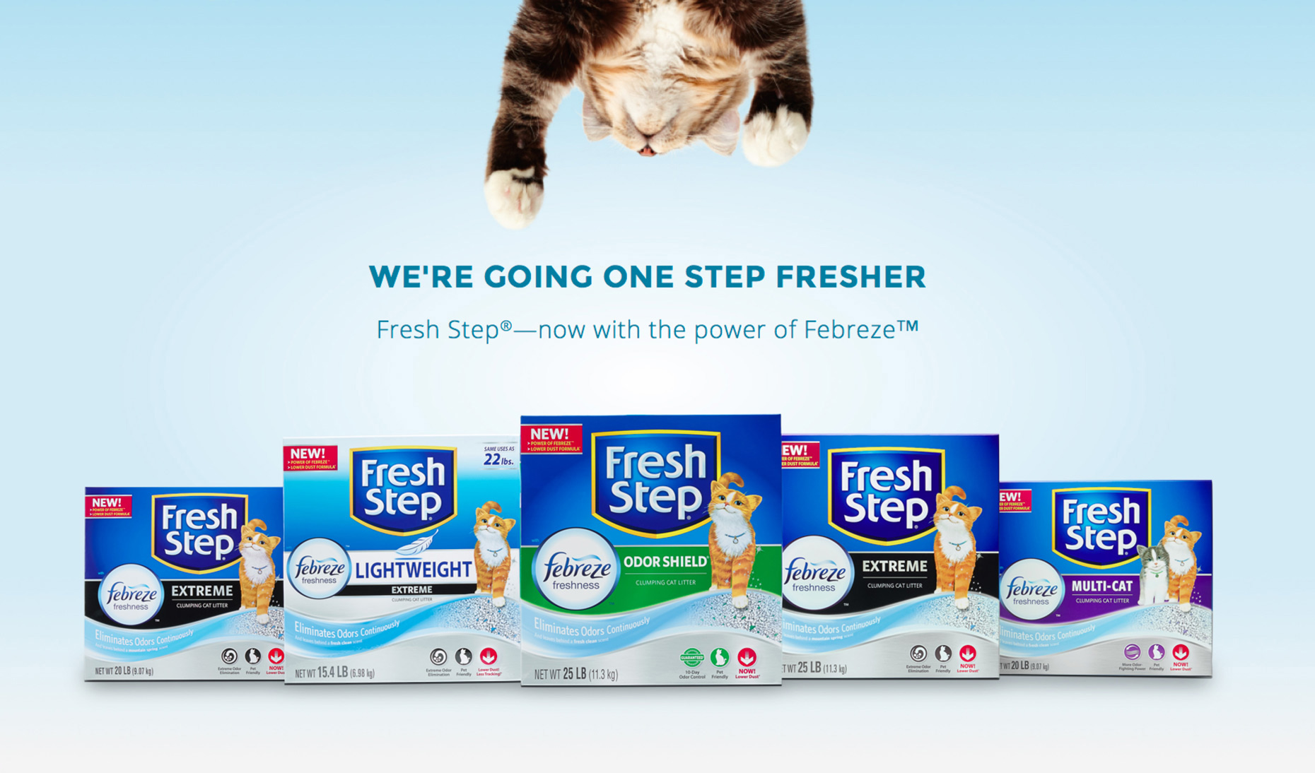 Fresh Step Website cat pawing